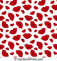 Vector  seamless background with lips print
