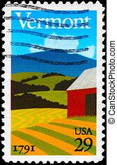 USA - CIRCA 1991 Vermont - USA - CIRCA 1991: A Stamp printed...