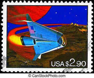 USA - CIRCA 1993 Space Shuttle - USA - CIRCA 1993: A Stamp...