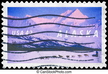 USA - CIRCA 2009 Alaska - USA - CIRCA 2009: A Stamp printed...