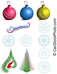 Collection of Christmas symbols