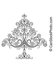 Openwork Christmas Tree with Snowflakes