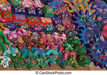 Mexican souvenirs on sale in Taxco, Mexico