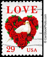 USA - CIRCA 1994 Dove - USA - CIRCA 1994: A Stamp printed in...