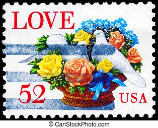 USA - CIRCA 1994 Pigeons - USA - CIRCA 1994: A Stamp printed...