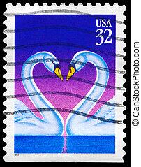 USA - CIRCA 1997 Swans