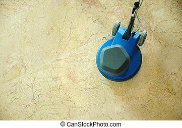 floor mop machine - a blue floor mop machine on the floor...