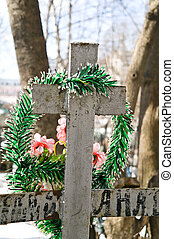 Cross on a grave