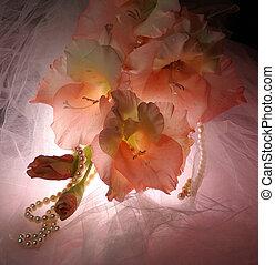 Wedding bouquet gladiolus