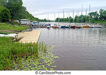 Dock on the river Tvertsa