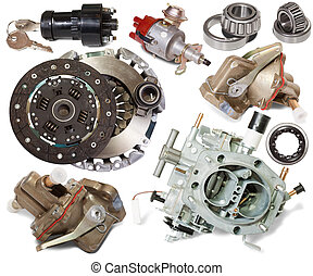 automotive spare parts - Set of automotive spare parts...