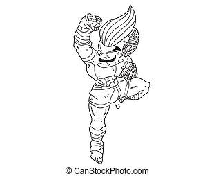 Muay Thai Boran:character cartoon11