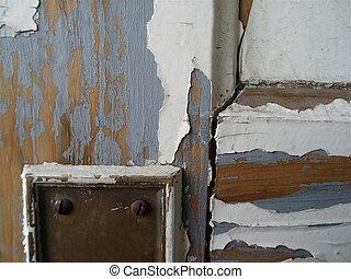 古董, 木制, 門