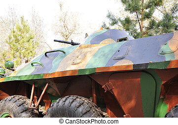 A Russian armored personnel carrier parts