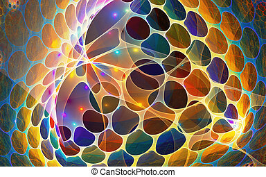 Fractal background with abstract shapes