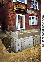 Building addition to home