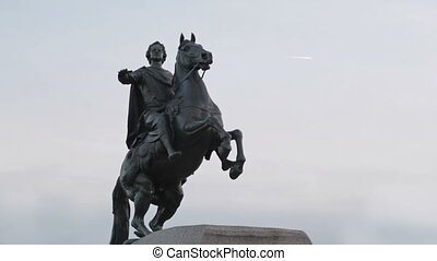 The bronze horseman. - A monument to Peter the great - the...