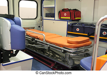 Ambulance Car Interior With No People