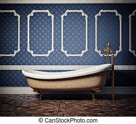 bathtub - classic style bathtub photo and cg elements...