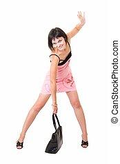 woman with handbag