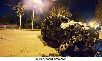 Automobile,  Timelapse, strada, incidente, scontrato