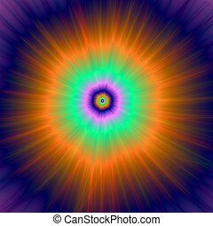 Psychedelic Super Nova - Digital abstract fractal image with...