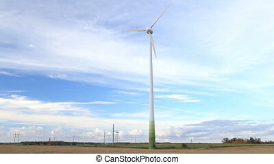 Wind turbine in the field NTSC version PAL version is also...