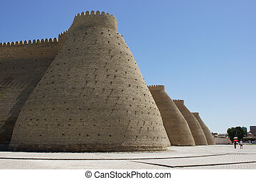 Fortress Ark, Bukhara, Uzbekistan - Ancient fort of Bukhara,...