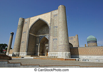 Mosque, Samarkand, Uzbekistan - Mosque Bibi Xanom, one of...