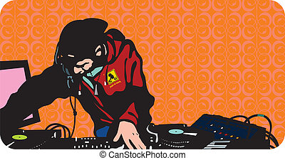 DJ is in action