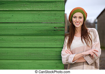 Close Up Portrait of a Beautiful Smiling Young Woman