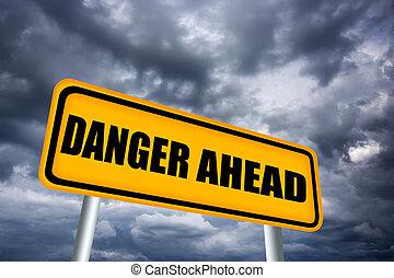 Danger road sign illustration