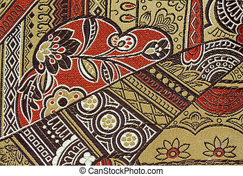 Oriental Silk Fabric Pattern as texture background