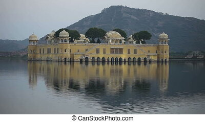 Jal Mahal - Jal Mahal palace amidst the lake, Rajasthan,...