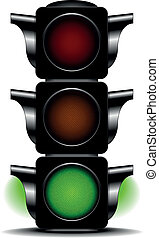 traffic light green - illustration of a traffic light with...