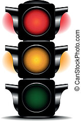 traffic light - illustration of a traffic light with...