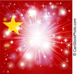 Chinese flag background - Flag of China background with...