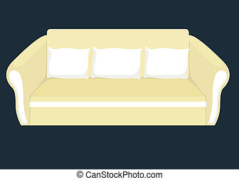 sofa illustration - vector illustration of sofa
