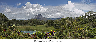 Arenal Volcano, Costa Rica - Panoramic view of Arenal...