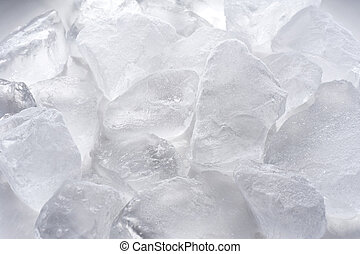 Ice cubes of background material, close-up shoot