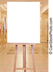 big picture frame in art gallery