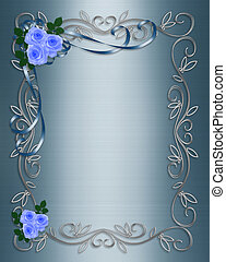 Blue Roses Wedding