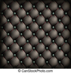 Vintage leather upholstery background - Black vintage...