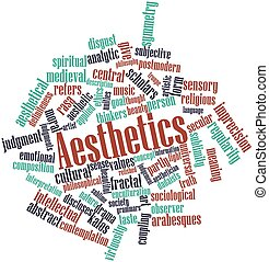 Aesthetics - Abstract word cloud for Aesthetics with related...