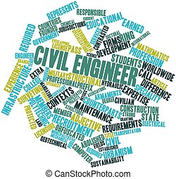 Civil engineer - Abstract word cloud for Civil engineer with...