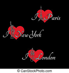 Hearts and London, Paris, New York