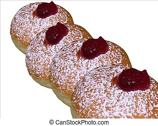 Donuts with jam - Donuts with jam, traditional Jewish...