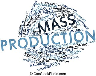 Mass production - Abstract word cloud for Mass production...