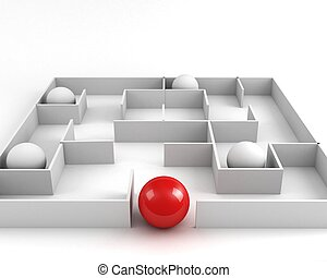 way out. leadership concept