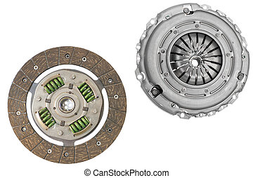 clutch and clutch cover under the white background